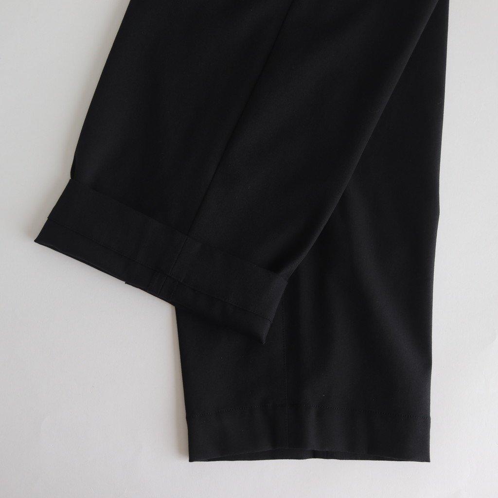 FBBPT|コットンポリエステル混紡糸2ウェイストレッチツイル ストレートイージーパンツ #BLACK [A9-FR041PF]