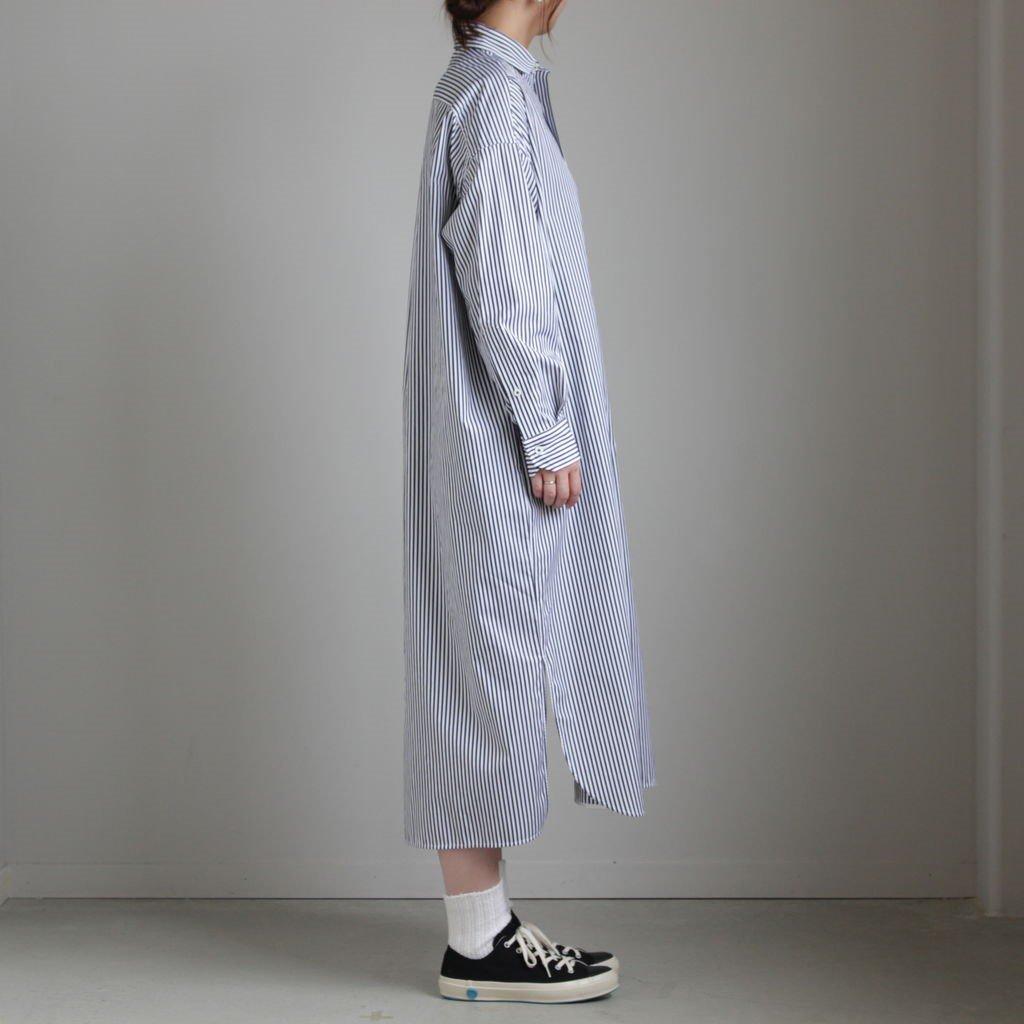 スクエアビッグロングシャツ #BLACK LONDON ST [TAIA-044]