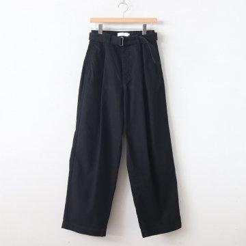 MILITARY CLOTH BELTED PANTS #BLACK [GU193-40064B] _ Graphpaper   グラフペーパー