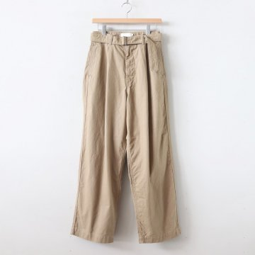 MILITARY CLOTH BELTED PANTS #BEIGE [GU193-40064B] _ Graphpaper | グラフペーパー