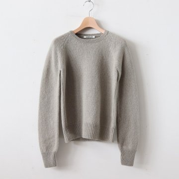 PURE SHETLAND WOOL KNIT P/O #LIGHT KHAKI [A9AP03SL] _ AURALEE | オーラリー