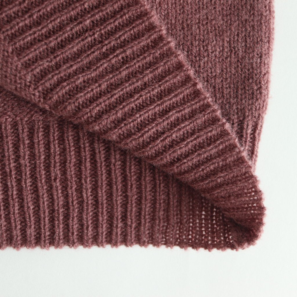 PURE SHETLAND WOOL KNIT P/O #RED BROWN [A9AP03SL]