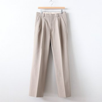 HARD TWIST DOUBLE CLOTH WIDE SLACKS #GRAY BEIGE [A9AP01KB] _ AURALEE | オーラリー