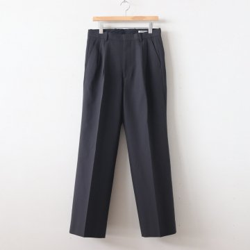 HARD TWIST DOUBLE CLOTH WIDE SLACKS #INK BLACK [A9AP01KB] _ AURALEE | オーラリー