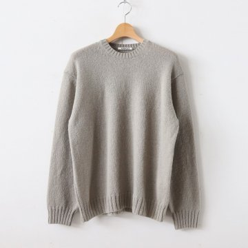 PURE SHETLAND WOOL KNIT P/O #LIGHT KHAKI [A9AP02SL] _ AURALEE | オーラリー