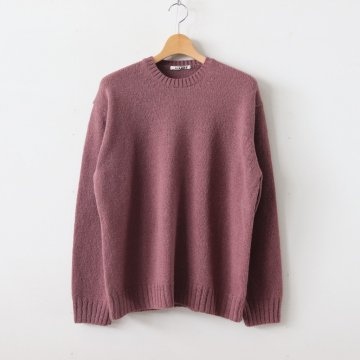 PURE SHETLAND WOOL KNIT P/O #RED BROWN [A9AP02SL] _ AURALEE | オーラリー