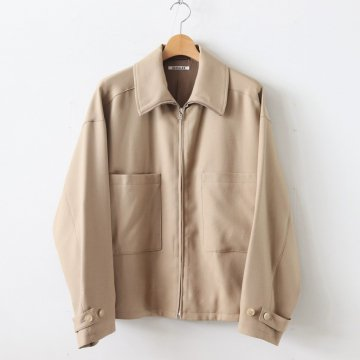 WOOL SERGE ZIP-UP BLOUSON #BEIGE [A9AS02WS] _ AURALEE | オーラリー