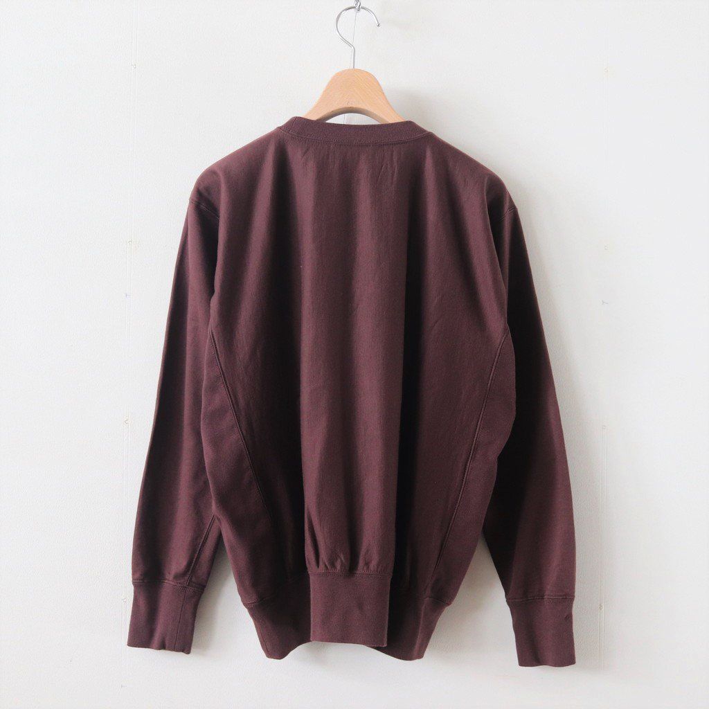 SUPER HIGH GAUGE SWEAT P/O #RED BROWN [A9AP02SU]