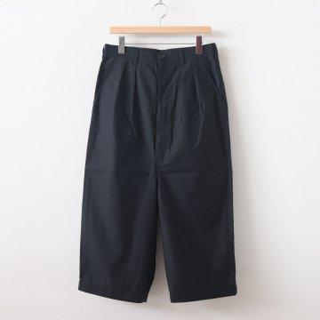 綿バックサテン2タックパンツ #BLACK [HD-P025-051] _ COMME des GARCONS HOMME   コム デ ギャルソン オム