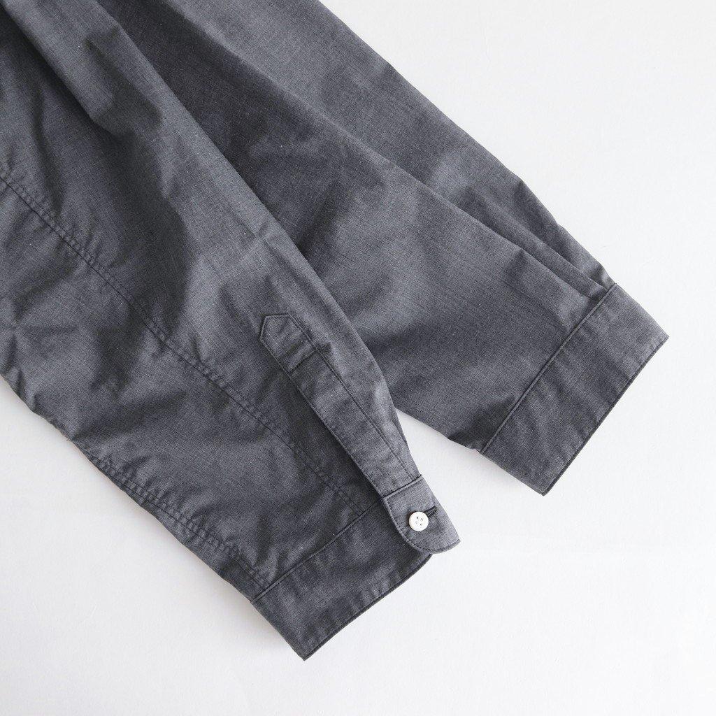 NOVSH|80/1 TCタイプライター スモールカラーワイドシャツ #DARK GREY TOP [A9-NC016SF]