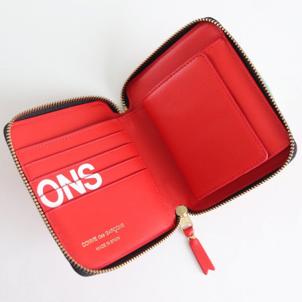 二つ折りZIP財布 SA2100HL #HUGE LOGO/RED [8Z-T021-051]