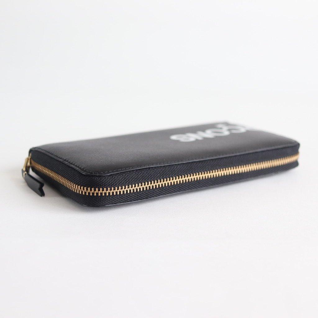二つ折りZIP長財布 SA0111HL #HUGE LOGO/BLACK [8Z-T101-051]