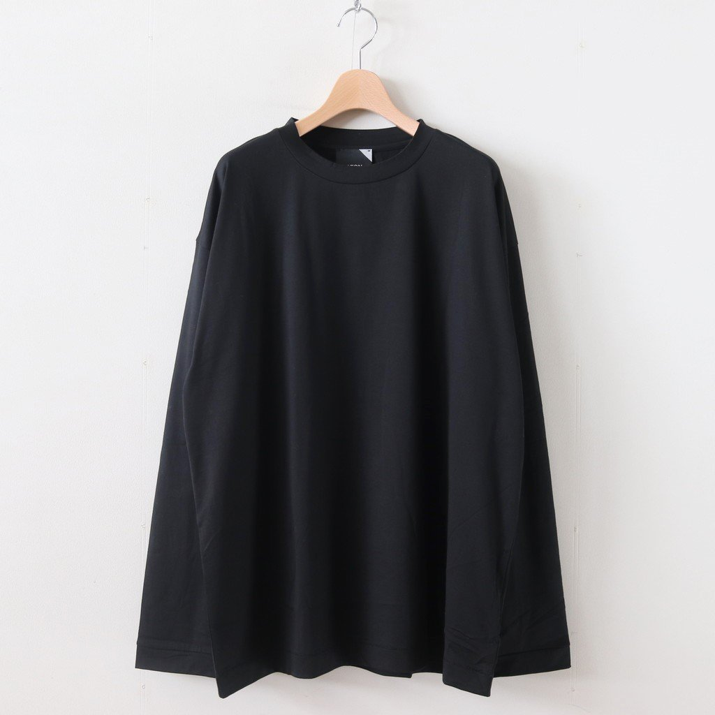 <img class='new_mark_img1' src='https://img.shop-pro.jp/img/new/icons1.gif' style='border:none;display:inline;margin:0px;padding:0px;width:auto;' />SUVIN 60/2 OVERSIZED LONGSLEEVE T-SHIRT #BLACK [KKAGKW0803]