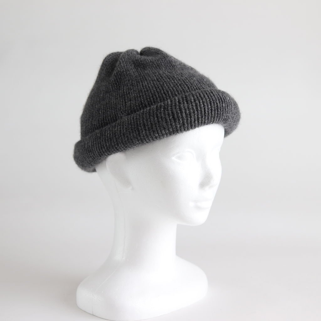 CASHMERE 100 ROLL KNIT #GRAY [NO.15550]