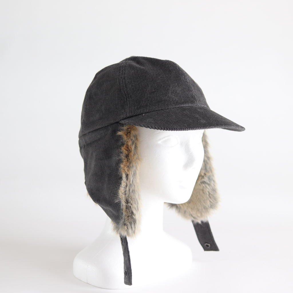 CORDUROY EAR CAP #GRAY [NO.15574]