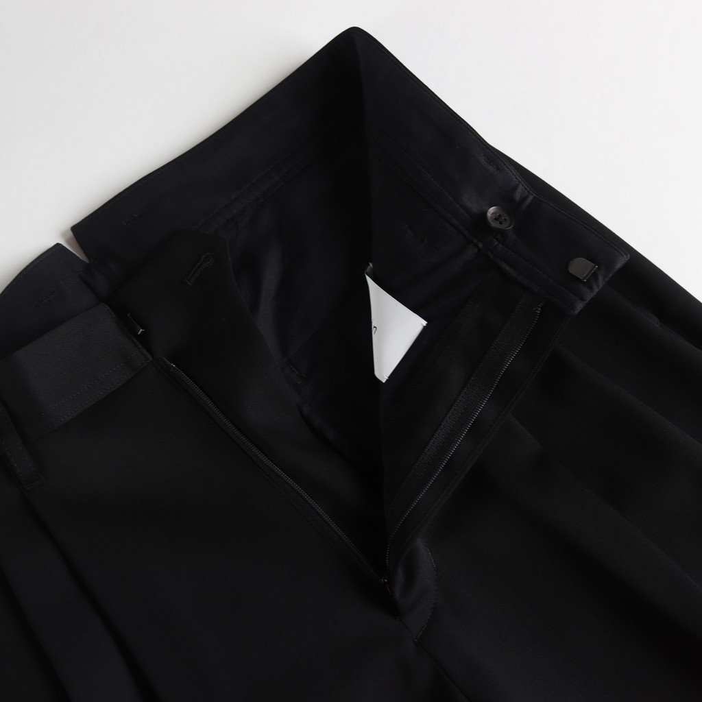 TWO TUCK WIDE TROUSERS #BLACK [ST.098-1]