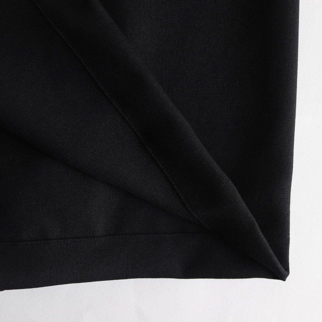 NMMSK|ポリエステルピンヘッドツイル ラップイージースカート #BLACK [A9-NC037SK]