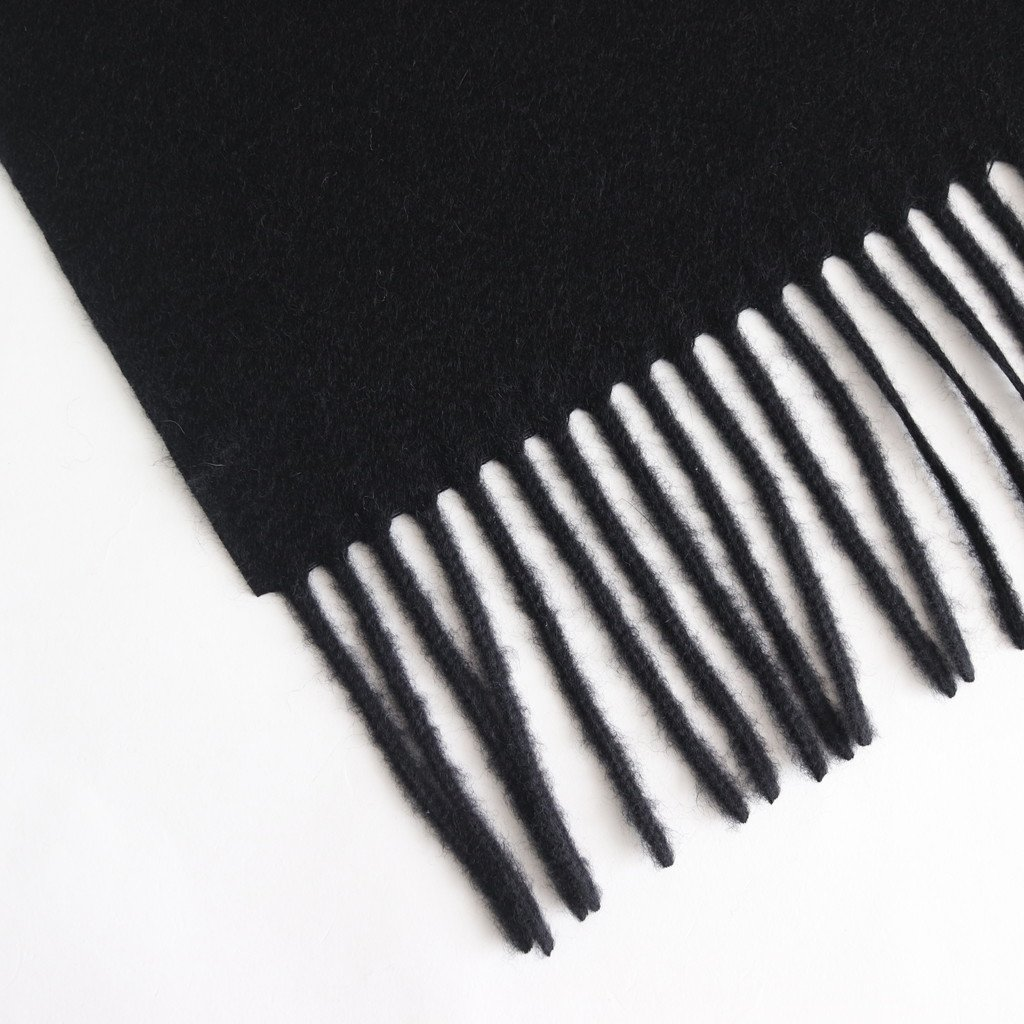 CASHMERE NARROW STOLE #BLACK [A9AM02CM]
