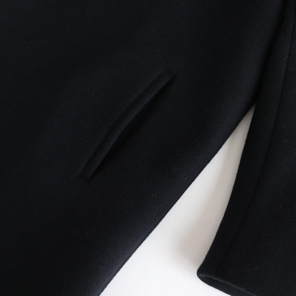 NHLCT ベビーラムウールダブルクロス ショールコート #BLACK [A9-NC072CT]
