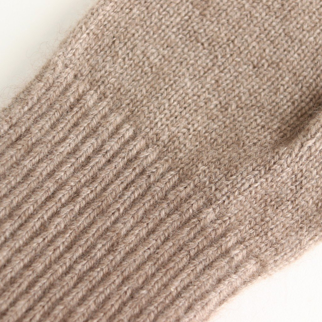 BABY CASHMERE KNIT LONG GLOVES #NATURAL BROWN [A9AG07BC]