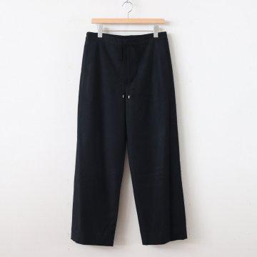 SUPER SOFT WOOL FLANNEL EASY PANTS #BLACK [A9AP07WF] _ AURALEE | オーラリー