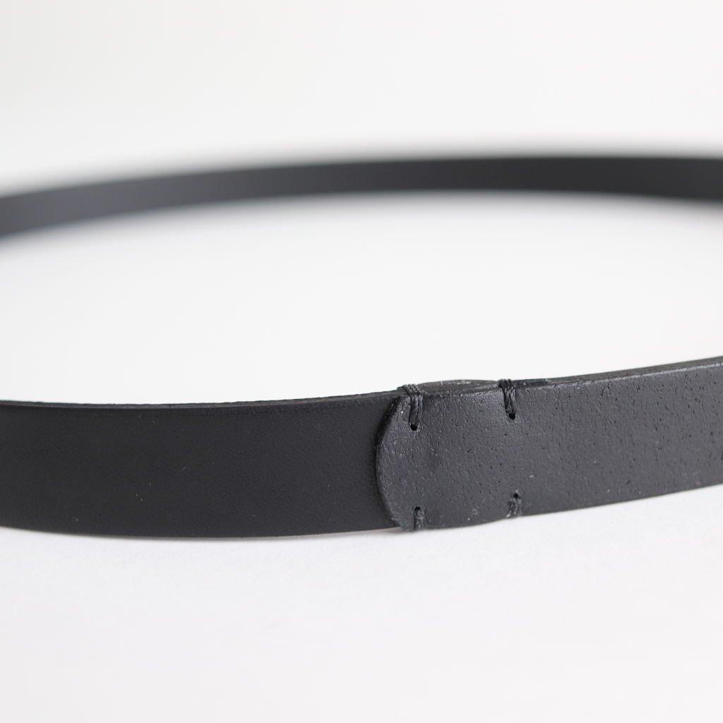 OVAL RING BELT #BLACK [BL02-S]