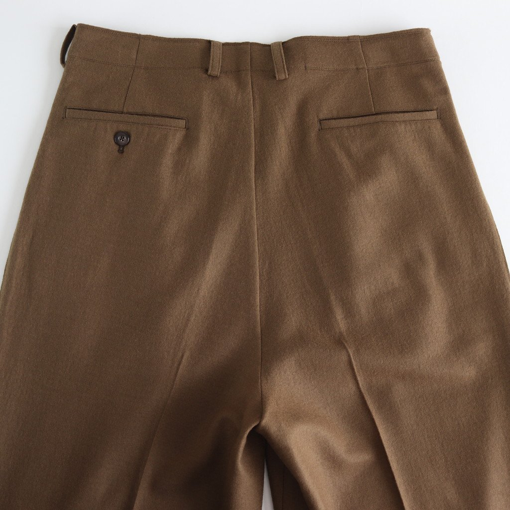 CUT-OFF 1TUCK WIDE TROUSERS #CAMEL [YK19AW0053P]