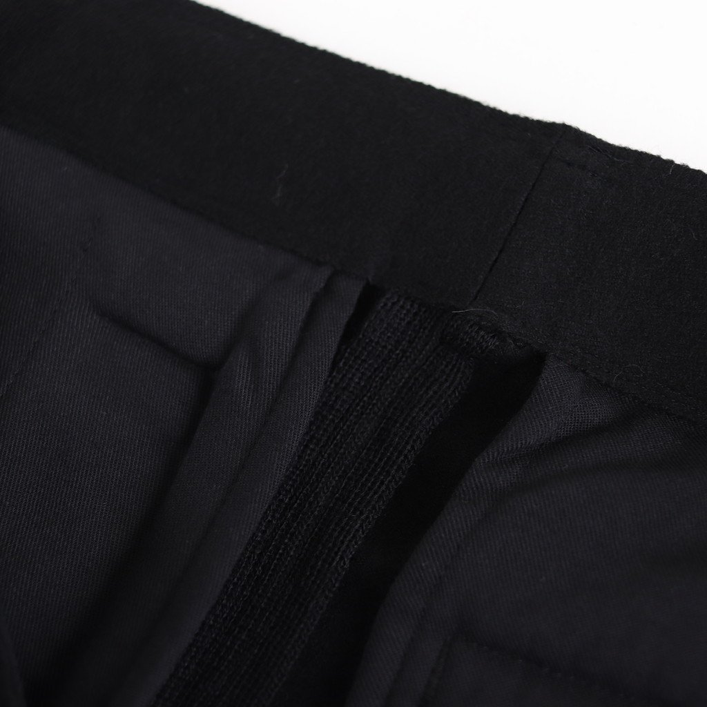 CUT-OFF 1TUCK WIDE TROUSERS #BLACK [YK19AW0053P]