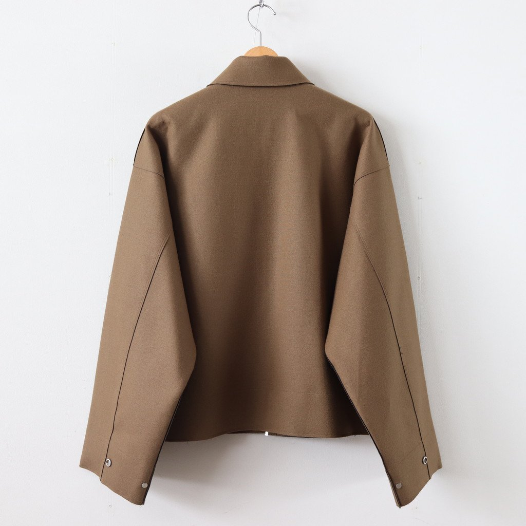 CUT-OFF DRIZZLER JACKET #CAMEL [YK19AW0052B]