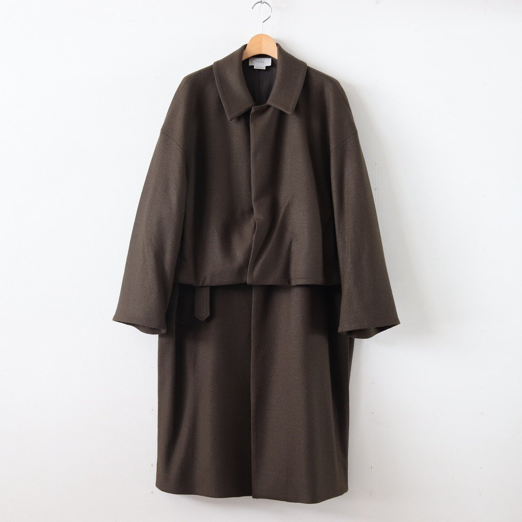 3WAY BAL COLLAR SHARE COAT #OLIVE [YK19AW0049C]