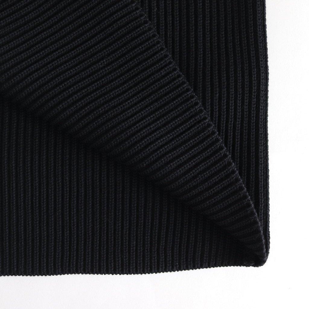 SUPER FINE WOOL RIB KNIT V NECK P/O #BLACK [A9AV05RK]