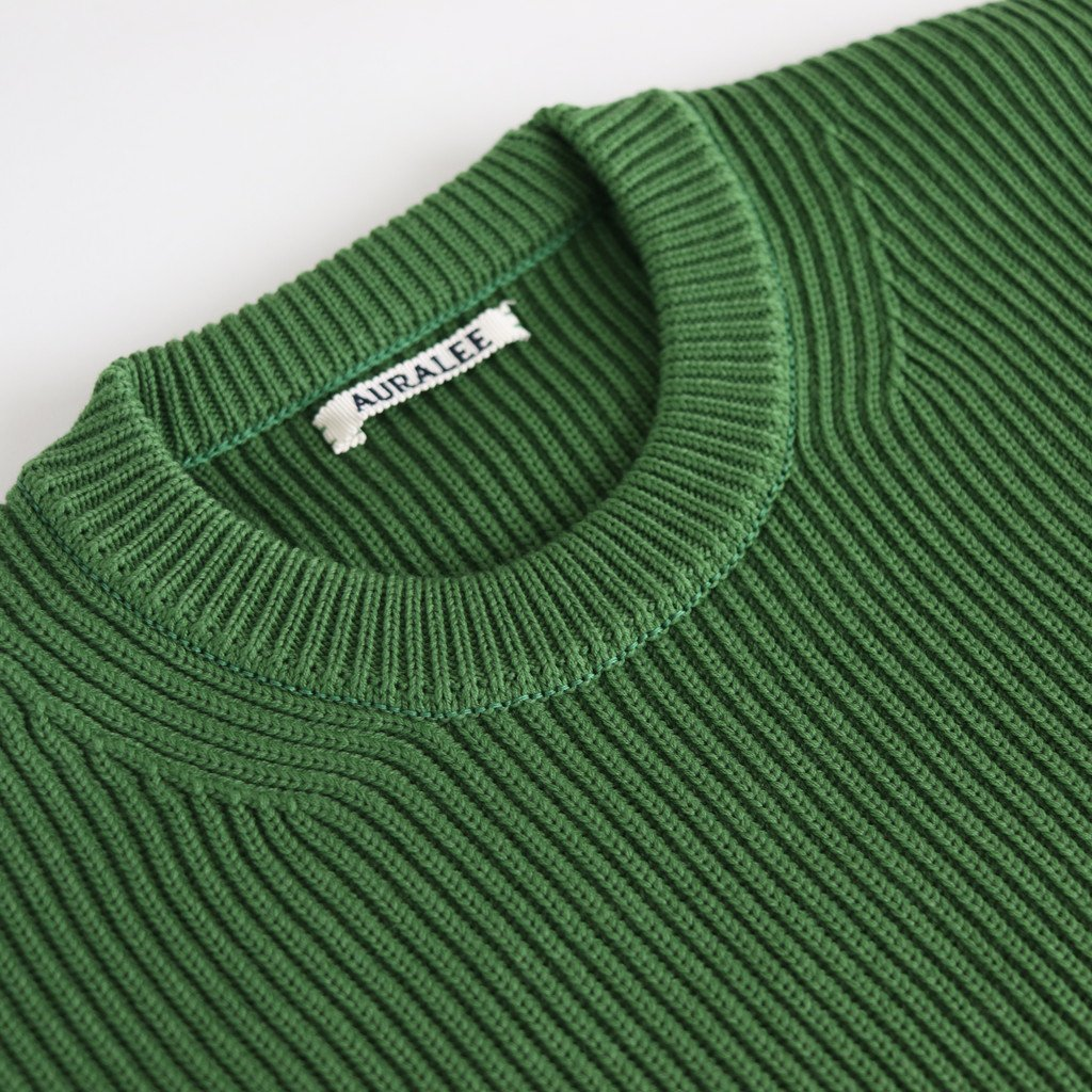 SUPER FINE WOOL RIB KNIT BIG P/O #GREEN [A9AP04RK]