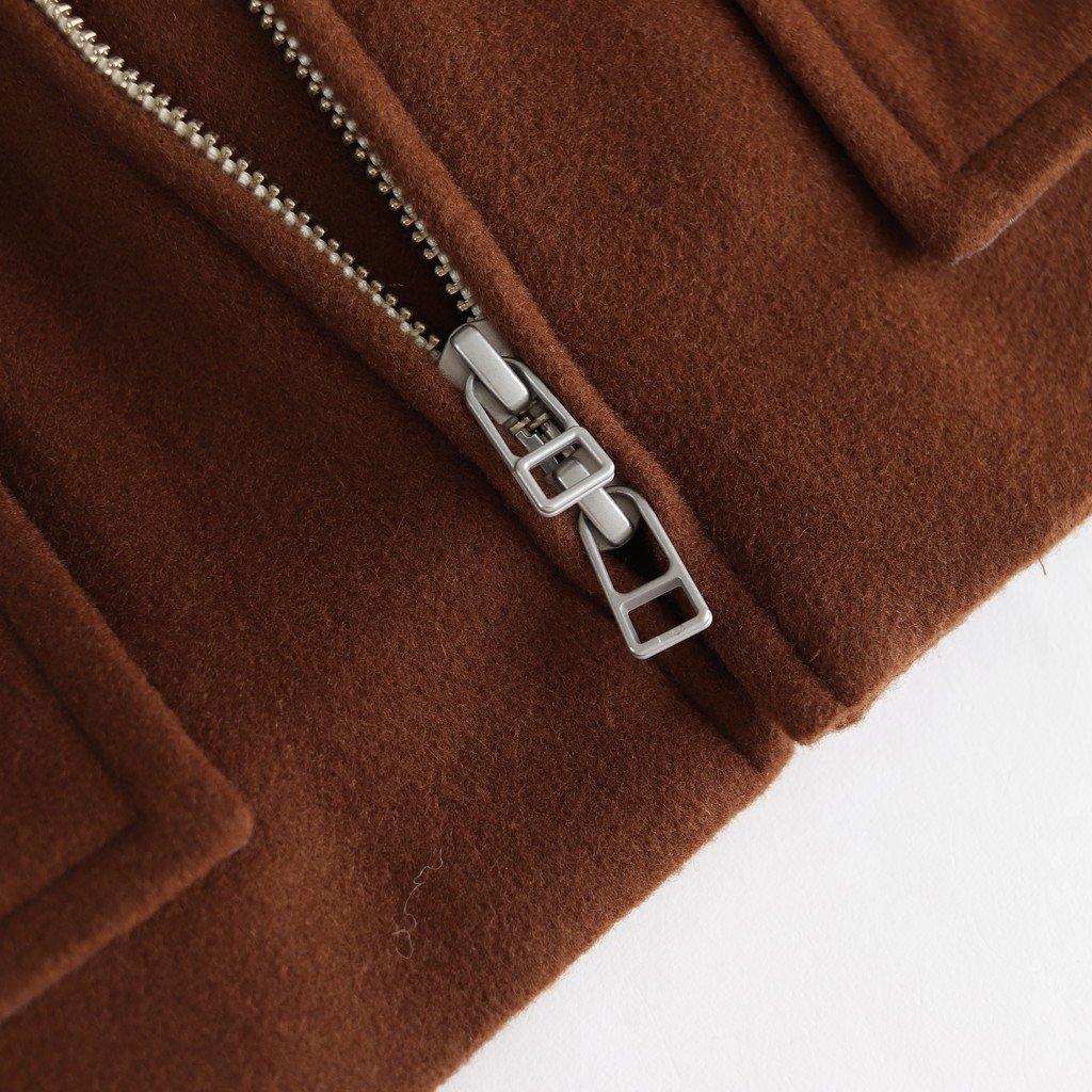 FBFJK|スーパー100Sウールローデンライク フードジャケット #BROWN [A9-FR141JK]