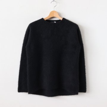 FUR CASHMERE CREWNECK SWEATER #BLACK [KRAGKW0901] _ ATON | エイトン