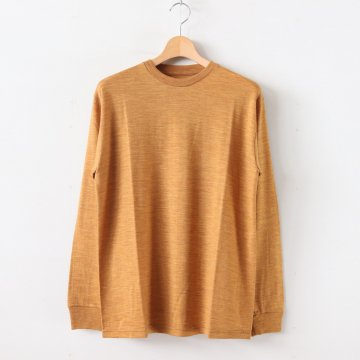 WASHABLE WOOL CREW NECK TEE #LEAF [GU193-70070B] _ Graphpaper | グラフペーパー