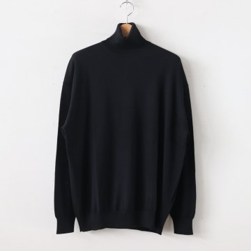 HIGH GAUGE KNIT HI-NECK #BLACK [GU193-80083B] _ Graphpaper | グラフペーパー