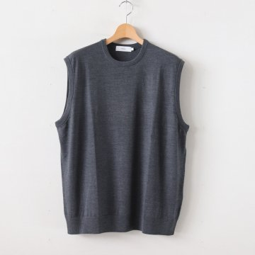 HIGH GAUGE KNIT VEST #GRAY [GU193-80081B] _ Graphpaper | グラフペーパー