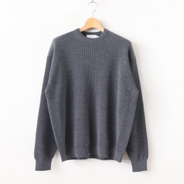 HIGH DENSITY CREW NECK #GRAY [GU193-80084] _ Graphpaper | グラフペーパー