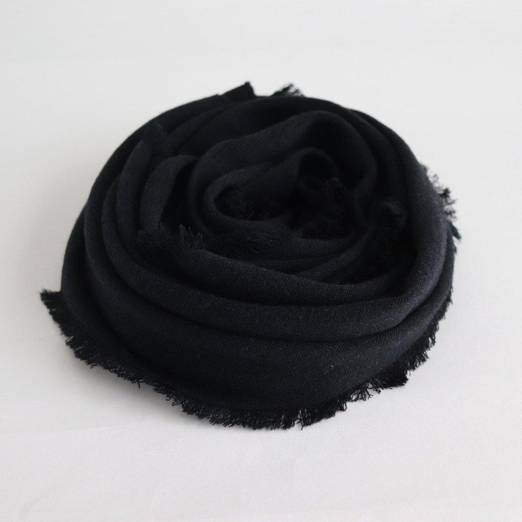 NRVST ラムウール&コットンヘビーダブルクロス ストール #BLACK&BLACK [A9-NC214SL]