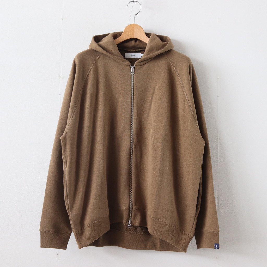 LOOPWHEELER for GP FULL ZIP PARKA #KHAKI [GU193-70126B]