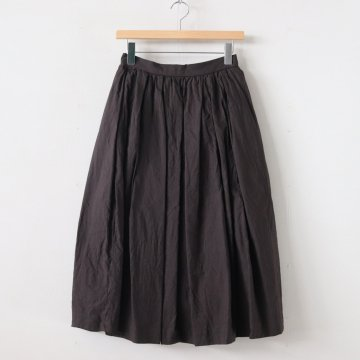 TUCK SKIRT #D.BROWN [99662] _ YAECA | ヤエカ