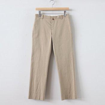 CHINO CLOTH PANTS PIPED STEM #KHAKI [69651] _ YAECA | ヤエカ