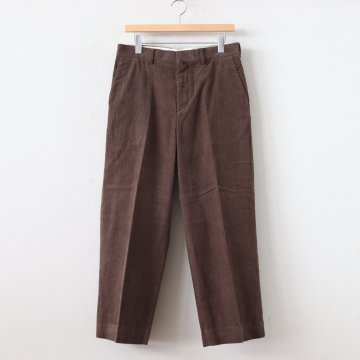 CORDUROY PANTS CREASED #BROWN [19656] _ YAECA | ヤエカ
