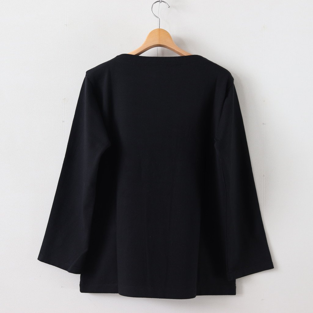 BASQUE SHIRT LONG #BLACK [39059]