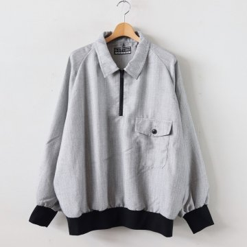 ZIP POLO #GRAY _ gourmet jeans | グルメジーンズ