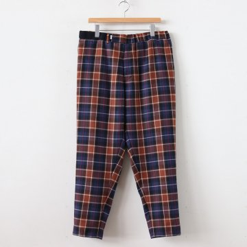 WOOL CHECK COOK PANTS #BLUE CH [GM194-40527] _ Graphpaper | グラフペーパー