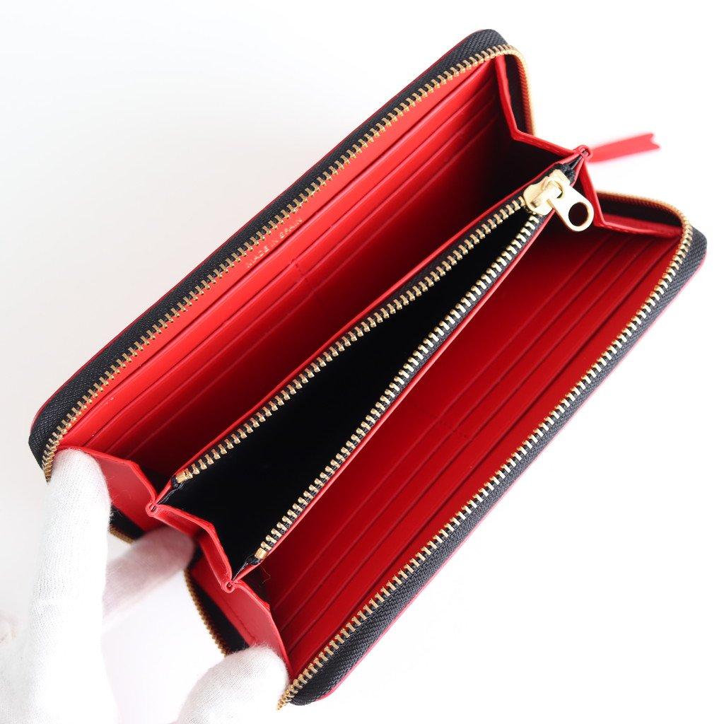二つ折りZIP長財布 SA0111HL #HUGE LOGO/RED [8Z-T101-051]