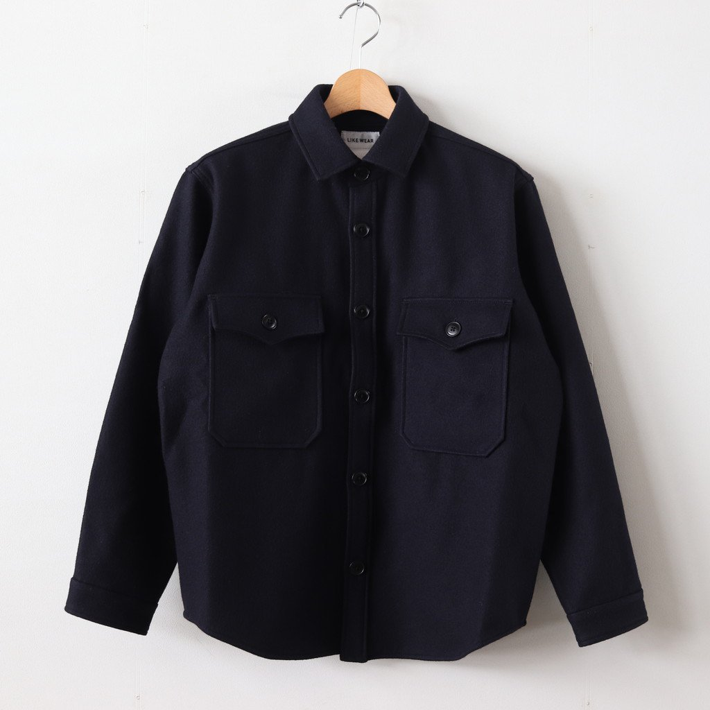 <img class='new_mark_img1' src='https://img.shop-pro.jp/img/new/icons1.gif' style='border:none;display:inline;margin:0px;padding:0px;width:auto;' />LIKE WEAR CPO SHIRT #NAVY [29151]