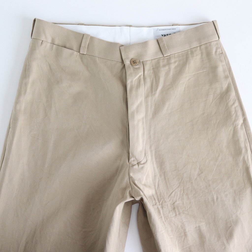 <img class='new_mark_img1' src='https://img.shop-pro.jp/img/new/icons1.gif' style='border:none;display:inline;margin:0px;padding:0px;width:auto;' />CHINO CLOTH PANTS WIDE TAPERED #KHAKI [19654]