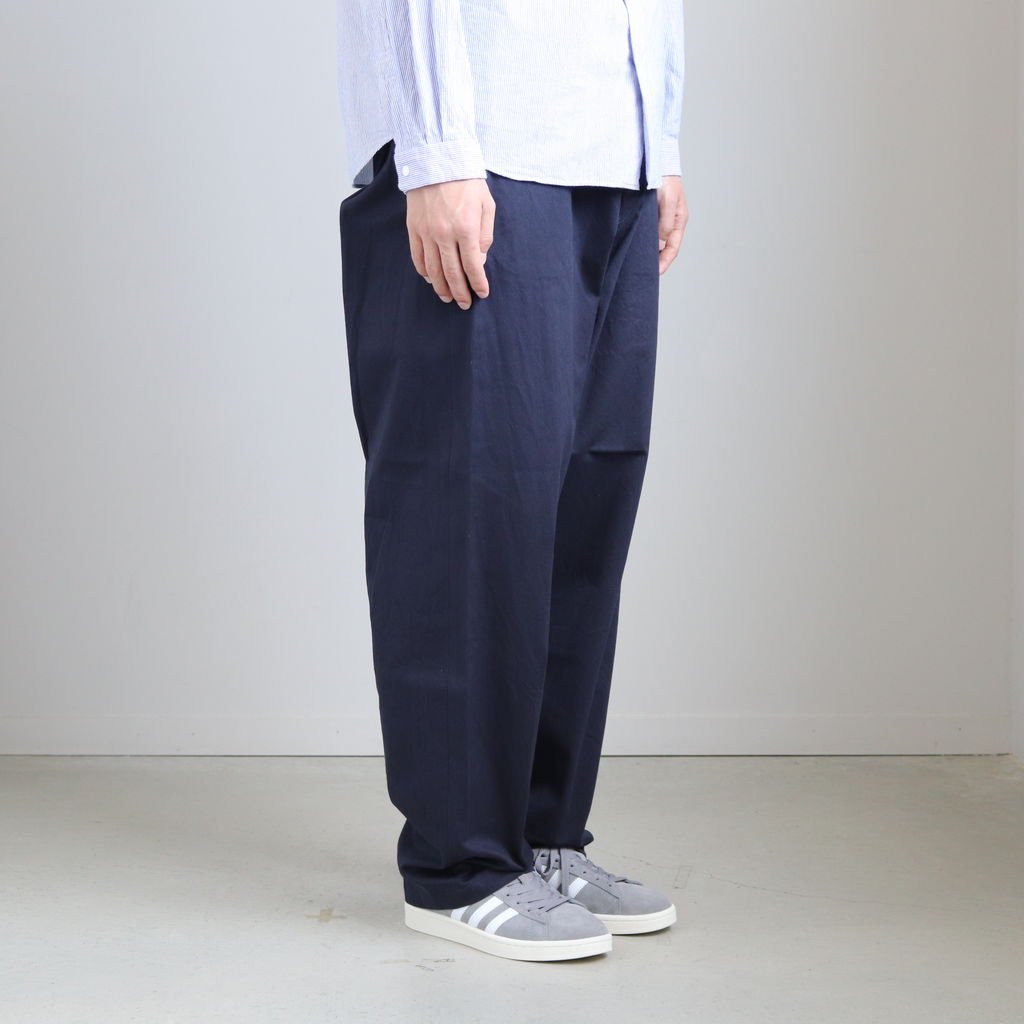 <img class='new_mark_img1' src='https://img.shop-pro.jp/img/new/icons1.gif' style='border:none;display:inline;margin:0px;padding:0px;width:auto;' />CHINO CLOTH PANTS WIDE TAPERED #NAVY [19654]